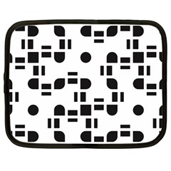 Black And White Pattern Netbook Case (large) by Simbadda