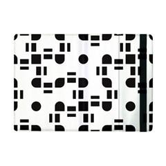 Black And White Pattern Apple Ipad Mini Flip Case by Simbadda