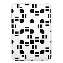 Black And White Pattern Kindle Fire Hd 8 9  by Simbadda