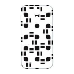 Black And White Pattern Samsung Galaxy S4 I9500/i9505  Hardshell Back Case by Simbadda