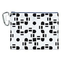 Black And White Pattern Canvas Cosmetic Bag (xxl) by Simbadda