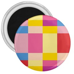 Colorful Squares Background 3  Magnets by Simbadda