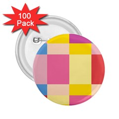 Colorful Squares Background 2 25  Buttons (100 Pack)  by Simbadda