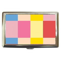 Colorful Squares Background Cigarette Money Cases by Simbadda