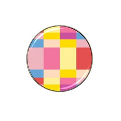Colorful Squares Background Hat Clip Ball Marker by Simbadda