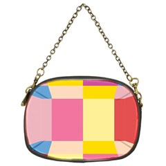 Colorful Squares Background Chain Purses (two Sides)  by Simbadda
