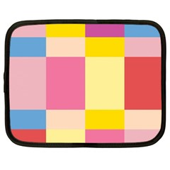 Colorful Squares Background Netbook Case (xl)  by Simbadda