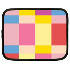 Colorful Squares Background Netbook Case (xxl)  by Simbadda