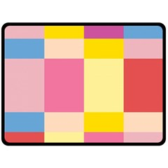 Colorful Squares Background Fleece Blanket (large)  by Simbadda