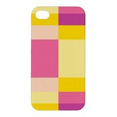 Colorful Squares Background Apple Iphone 4/4s Hardshell Case by Simbadda