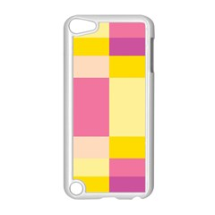 Colorful Squares Background Apple Ipod Touch 5 Case (white) by Simbadda