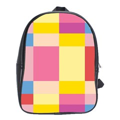 Colorful Squares Background School Bags (xl)  by Simbadda