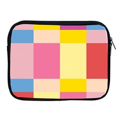 Colorful Squares Background Apple Ipad 2/3/4 Zipper Cases by Simbadda