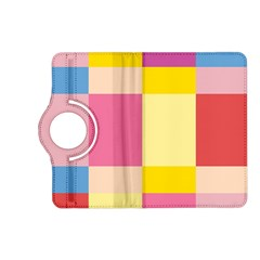 Colorful Squares Background Kindle Fire Hd (2013) Flip 360 Case by Simbadda