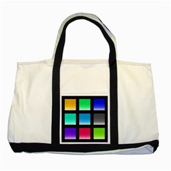 Colorful Background Squares Two Tone Tote Bag by Simbadda