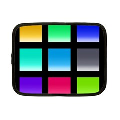 Colorful Background Squares Netbook Case (small)  by Simbadda