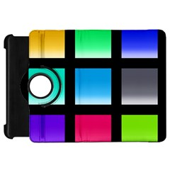 Colorful Background Squares Kindle Fire Hd 7  by Simbadda