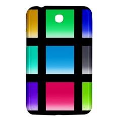 Colorful Background Squares Samsung Galaxy Tab 3 (7 ) P3200 Hardshell Case  by Simbadda