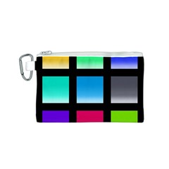 Colorful Background Squares Canvas Cosmetic Bag (s) by Simbadda