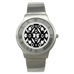 Abstract Background Pattern Stainless Steel Watch by Simbadda