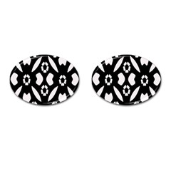Abstract Background Pattern Cufflinks (oval) by Simbadda