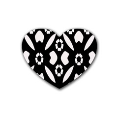 Abstract Background Pattern Rubber Coaster (heart)  by Simbadda