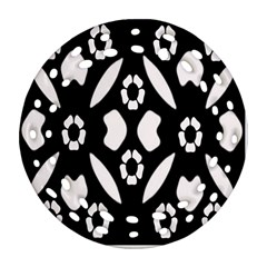 Abstract Background Pattern Round Filigree Ornament (two Sides) by Simbadda