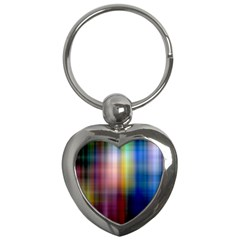 Colorful Abstract Background Key Chains (heart)  by Simbadda