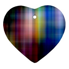 Colorful Abstract Background Heart Ornament (two Sides) by Simbadda
