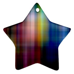 Colorful Abstract Background Star Ornament (two Sides) by Simbadda