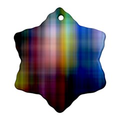 Colorful Abstract Background Snowflake Ornament (two Sides) by Simbadda