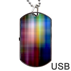 Colorful Abstract Background Dog Tag Usb Flash (two Sides) by Simbadda