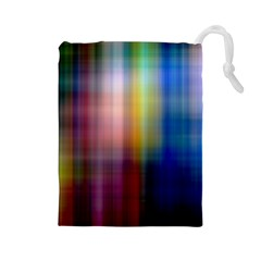 Colorful Abstract Background Drawstring Pouches (large)  by Simbadda