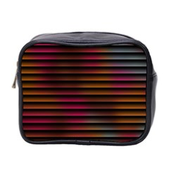 Colorful Venetian Blinds Effect Mini Toiletries Bag 2 Side by Simbadda