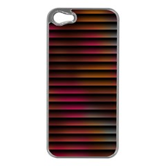 Colorful Venetian Blinds Effect Apple Iphone 5 Case (silver) by Simbadda