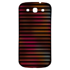 Colorful Venetian Blinds Effect Samsung Galaxy S3 S Iii Classic Hardshell Back Case by Simbadda