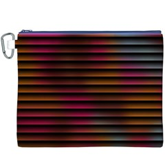 Colorful Venetian Blinds Effect Canvas Cosmetic Bag (xxxl) by Simbadda