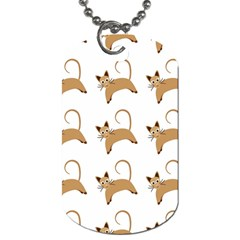 Cute Cats Seamless Wallpaper Background Pattern Dog Tag (two Sides) by Simbadda