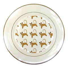 Cute Cats Seamless Wallpaper Background Pattern Porcelain Plates by Simbadda