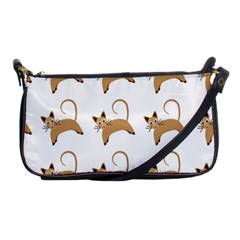 Cute Cats Seamless Wallpaper Background Pattern Shoulder Clutch Bags by Simbadda