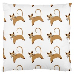 Cute Cats Seamless Wallpaper Background Pattern Large Cushion Case (two Sides) by Simbadda