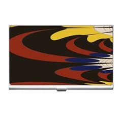Peacock Abstract Fractal Business Card Holders by Simbadda