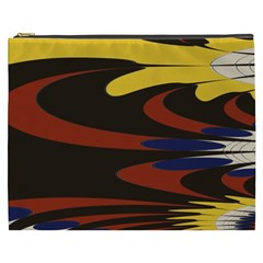 Peacock Abstract Fractal Cosmetic Bag (xxxl)  by Simbadda