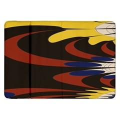 Peacock Abstract Fractal Samsung Galaxy Tab 8 9  P7300 Flip Case by Simbadda