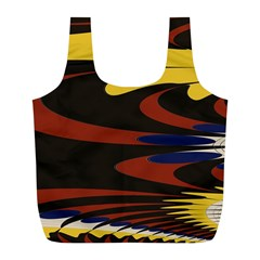 Peacock Abstract Fractal Full Print Recycle Bags (l)  by Simbadda