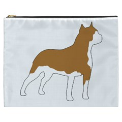 American Staffordshire Terrier  Silo Color Cosmetic Bag (XXXL)  by TailWags