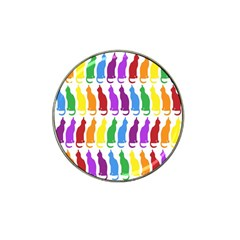 Rainbow Colorful Cats Wallpaper Pattern Hat Clip Ball Marker by Simbadda