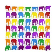 Rainbow Colors Bright Colorful Elephants Wallpaper Background Standard Cushion Case (one Side) by Simbadda