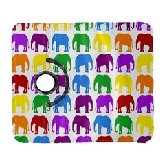 Rainbow Colors Bright Colorful Elephants Wallpaper Background Galaxy S3 (flip/folio) by Simbadda