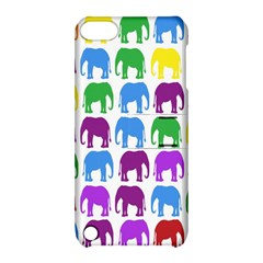 Rainbow Colors Bright Colorful Elephants Wallpaper Background Apple Ipod Touch 5 Hardshell Case With Stand by Simbadda
